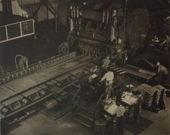 Industrial vintage original Russell C Aikins silver gelatin photograph well listed mid century modern machine age photographer artist