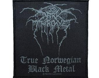 "Band Logo ""Darkthrone: True Norwegian Black Metal"" Patch Apparel Sew-On Applique"