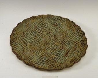 Stoneware serving platter, ceramic sushi dish, pottery cheese plate, ceramic fruit tray