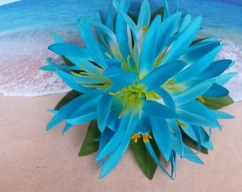 Tropical silk flower hawaiian hair clip (31)