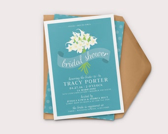 Printable Bridal Shower Invitation,  Calla Lily Invitation, Custom Invitation, Wedding Shower Invitation, DIY Invitation