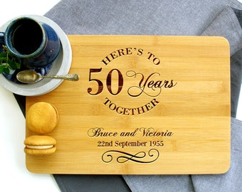 Personalized Cutting Board, Custom Cutting Board, Anniversary cutting board, Anniversary Together