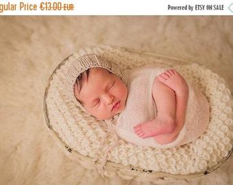 SALE 20%OFF Newborn Photo Prop merino Bonnet hat- Prop Newborn Hat in MANY Sizes- Ribbed Bonnet Hat- Knit Baby Hat-Many color choice