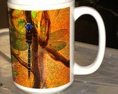 Blue Dragonfly Large Coffee Mug 15 Oz.