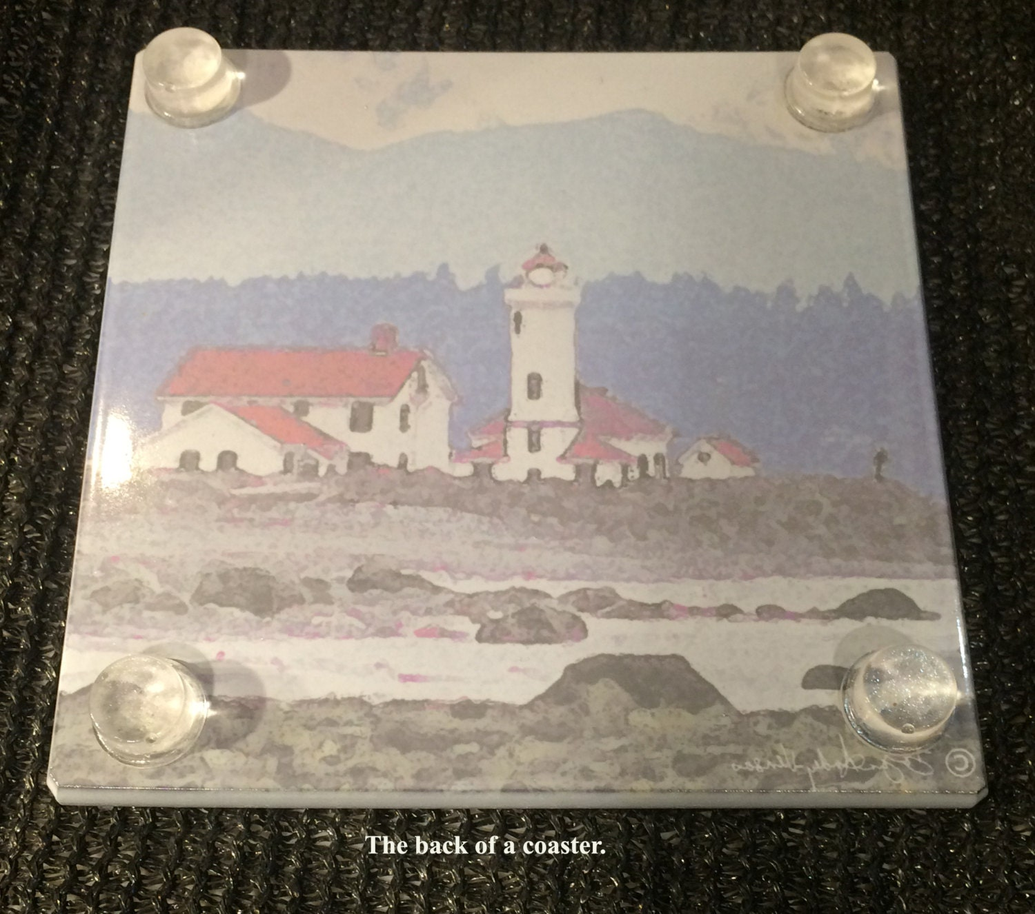 Glass Tile Or Coaster Froggy X - Ceramic tile cutting boards
