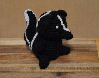 Little Skunk, Crochet Skunk, Amigurumi Skunk