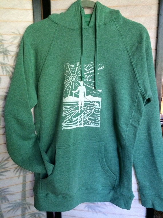 Man on Board Midweight Sea Green SUP hoodie