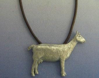 goat pendant amulet 925 sterling silver necklace charm