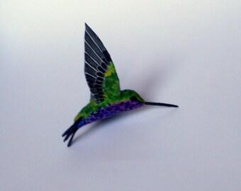 hummingbird art  paper mache sculpture bird ornaments