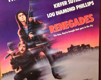 Movie Poster, Renegades, 1989 with Keifer Sutherland.