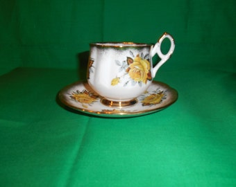One (1), Bone China, Footed Tea Cup and Saucer, from Elizabethan China, in the 2747 5 Pattern