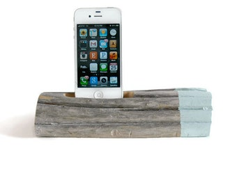 Docking Station / Painted Driftwood - Sea Foam