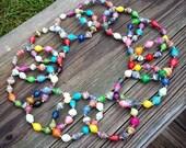 Multi Colored Ugandan Paper Bead Bracelet
