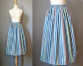 Blue Dirndl Skirt / Vtg /...