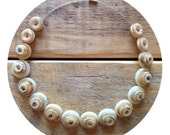 Natural, shades of brown,  button necklace