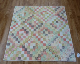 Traditional Patchwork Throw Quilt