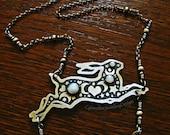 Custom hare necklace