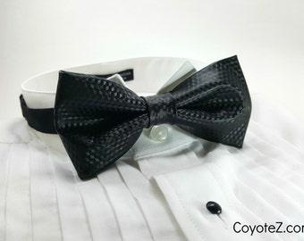 Kevlar Look Bowtie, Black Tie, Fancy Bowtie, Geekery, Wedding Bowtie, Gifts for Him, Adjustable Bow tie, Non-Traditional Wedding Tuxedo