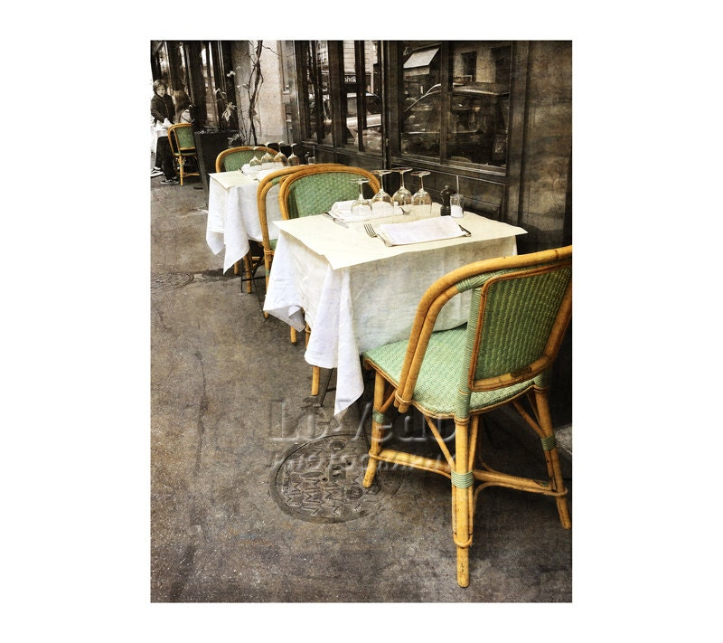 Paris Bistro Bistro graph Sidewalk Café Rattan Chairs