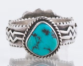 Turquoise Ring - Vintage Turquoise and Sterling Silver Ring