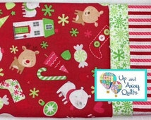 Pillowcase Kit - Red Christmas Goodies Home for the Holidays