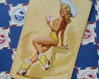 Beautiful Vintage Pin Up Playing Cards | Cowgirl | Blonde | Country Western