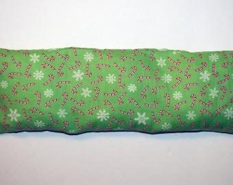 "4x12"" Candy Cane & Snowflakes Aromatherapy Rice Wrap"