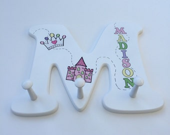 Wooden Letter Alphabet Clothes Hanger