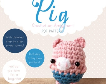 Pig Amigurumi Pattern, Pig Crochet Pattern, Pig Amigurumi PDF pattern