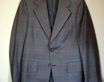 vintage mens  plaid sport coat size 40 hart schaffner and marx