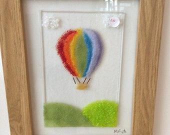 Rainbow Hot Air Balloon Picture