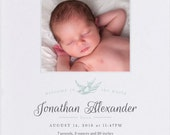 Sparrow Baby Announcement - Photo Baby Announcement - Birth Announcement