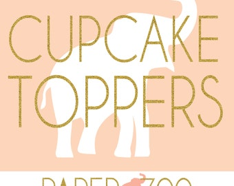 Printable Paper Zoo Cupcake Toppers