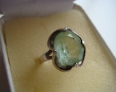Reserved for nat....Pale Green Quartz in Silver
