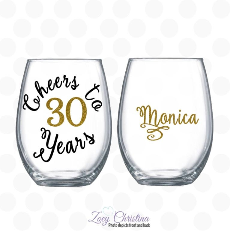 Cheers to 30 years 30th birthday gift for women Turning 30