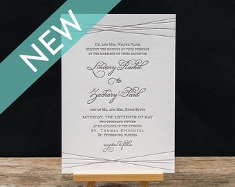 Sydney Letterpress Invitation Suite - DEPOSIT