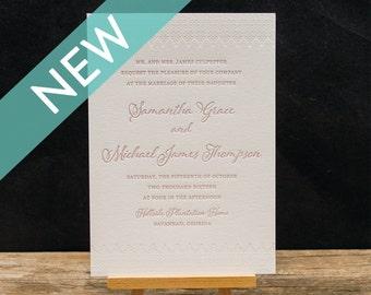 Verona Letterpress Invitation Suite
