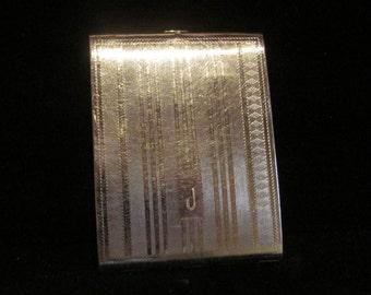 Vintage 1910s Cigarette Case Evans Edwardian Cigarette Case Business Card Case Silver Tone Very Good to Excellent Condition VERY RARE
