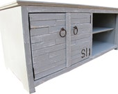 Media Console,Reclaimed Wood, Painted,TV Stand,  ( Beach Collection)