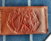 For Stephanie - Custom business card wallet, whole horse hoof care