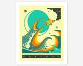 Giclée Fine Art Print, Sci-Fi, Rocket Ship, Pop Art for the Kids Room