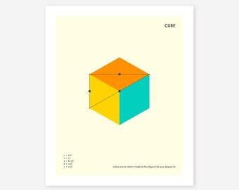 CUBE (Giclée Fine Art Print/Photo Print/Poster Print) Minimal, Geometric Art