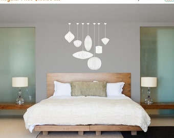 Back To School SALE George Nelson Bubble Lamps Set - Vinyl Wall Art Decal Custom Stickers