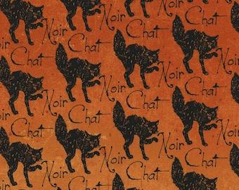 Fat Quarter Wicked Halloween Cats Orange 100% Cotton Quilting Fabric C3385