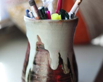 Ceramic pen holder