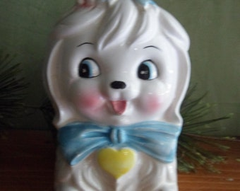 Lefton Mr. Toodles (Maltese Dog) Napkin Holder  RARE  (T)