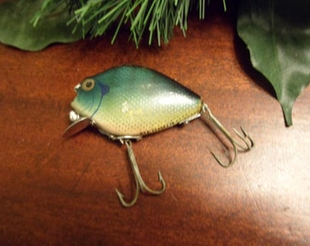 Vintage Wooden Heddon BlueGill Punkinseed 740 Floater,  Wooden Fishing Lure   (T)