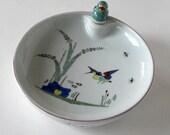 Exquisite Vintage Limoges Warming Dish, Made in France, Porcelain bird, Serving Bowl, gift idea