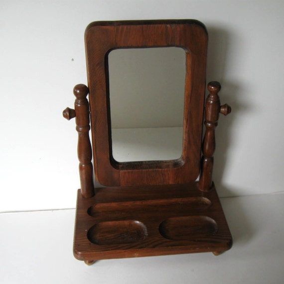 Vintage Solid Wood Mirrored Men S Dresser Valet Mid