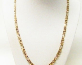 Gold Plated Figaro Chain Necklace